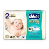 CHICCO Chicco Ultra Mini (3-6 kg) 25 ks - jednorazové plienky