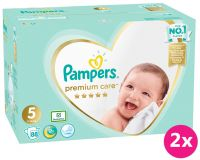 2x PAMPERS Premium Care 5 Junior 88 ks (11-16 kg) MEGA BOX – jednorázové pleny