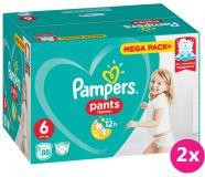 2x PAMPERS Pants 6, 88 ks (15+ kg) MEGA Box - plenkové kalhotky