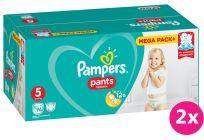2x PAMPERS Pants 5, 96 ks (12-17 kg) MEGA Box - plenkové kalhotky