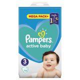 PAMPERS Active Baby 3 (6-10 kg) 152 ks MEGA PACK – jednorázové pleny