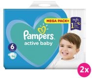 2 xPAMPERS Active Baby 6 (13-18kg) 96 szt. MEGA PACK – pieluchy jednorazowe