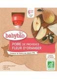 BABYBIO Hruška pomerančový květ (4x 90 g) - ovocný příkrm