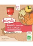 BABYBIO Jablko sladké brambory (4x 90 g) - ovocný příkrm