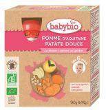 BABYBIO Jablko sladké brambory 4x90g – ovocný příkrm