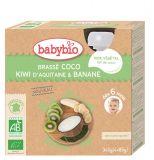 BABYBIO Svačinka s kokosovým mlékem - kiwi a banán 4x85 g
