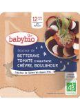 BABYBIO Cvikla s paradajkou, kozím syrom a bulgurom 190 g – zeleninový príkrm
