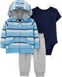 CARTER'S Set 3dílný body, mikina, kalhoty Strips chlapec 9 m/vel. 74