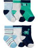 CARTER'S Ponožky Dinosaur chlapec 6 ks, 0-3 m, veľ. 56