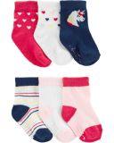 CARTER'S Ponožky Unicorn dievča 6 ks, 0-3 m, veľ. 56
