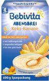 BEBIVITA Mliečna kaša na dobrú noc 4m+ (600 g) -  Keksy a Banány - expirácia 31.01.2020
