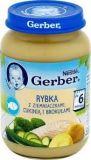 GERBER Kuchnia Polska Rybka z ziemniaczkami cukinią i brokułami 190 g - wygaśnięcie 29.12.2019