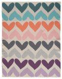 PETITE&MARS Deka pletená bavlněná Harmony Pure Hearts 80 x 100 cm