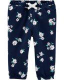 CARTER'S Kalhoty dlouhé Flowers dívka 9 m/vel. 74