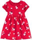 CARTER'S Šaty krátký rukáv Flowers dívka 12 m/vel. 80