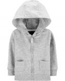 CARTER'S Mikina na zips s kapucňou Gray chlapec 6 m/vel. 68
