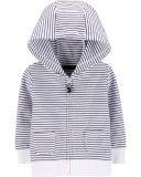 CARTER'S Mikina na zip s kapucí Strips White chlapec 18 m/vel. 86
