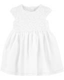 CARTER'S Šaty White dievča 12 m/vel. 80