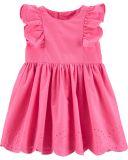 CARTER'S Šaty Pink dívka 24 m/vel. 92