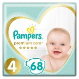 PAMPERS Premium Care 4 MAXI (9-14 kg) 68 ks Jumbo Pack – jednorázové pleny