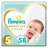 PAMPERS Premium Care 5 JUNIOR (11-16 kg) 58 ks Jumbo – jednorazové plienky