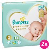PAMPERS Premium Care 2 MINI (4-8 kg) 188 ks Jumbo Pack – jednorazové plienky