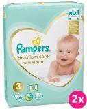 PAMPERS Premium Care 3 MIDI (6-10 kg) 160 ks Jumbo Pack – jednorazové plienky