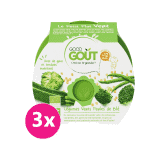 GOOD GOUT BIO Brokolice, cuketa a zelené fazolky s tarhoňou 3x220 g