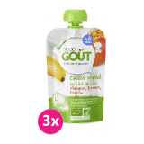 GOOD GOUT BIO Kokosový jogurt s mangem, banánem a marakujou 3x90 g