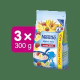 3x NESTLÉ Mléčná kaše Banán Jahoda 300 g