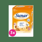 3x SUNAR Complex 3 vanilka, 600 g