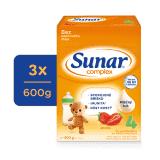 3x SUNAR Complex 4 jahoda, 600 g