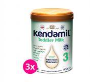 3x KENDAMIL Batolecí mléko 3 (900 g) DHA+