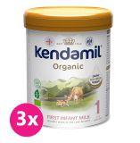 3x KENDAMIL Kojenecké BIO/organické mléko 1 (800 g) DHA+
