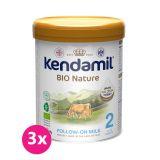 3x KENDAMIL Pokračovací BIO Nature 2 (800 g) DHA+
