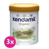 3x KENDAMIL Batolecí BIO/organické mléko 3 (800 g) DHA+