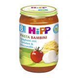 HiPP BIO Pasta Bambini - Rajčata se špagetami a mozarellou od uk. 7. měsíce, 220 g
