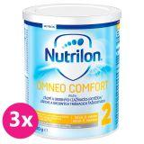 3 x NUTRILON 2 Omneo Comfort (400 g) 6+ špeciálne pokračovacie dojčenské mlieko