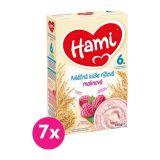 7x HAMI XXL mléčná kaše rýžová malinová 225 g, 6+