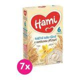 7x HAMI XXL mléčná kaše rýžová s vanilkovou příchutí 225 g, 6+