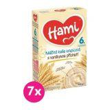 7x HAMI mléčná kaše krupicová s vanilkovou příchutí 225 g, 6+