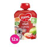 12x HAMI XXL ovocná kapsička Višeň a jahoda 90 g, 6+