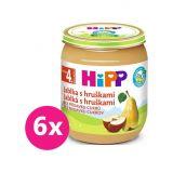 6x HiPP BIO Jablka s hruškami od uk. 4. měsíce, 125 g