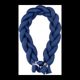 BABYMATEX Mantinel do postieľky Vrkoč 200 cm modrá