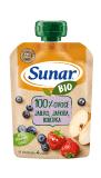 SUNAR BIO kapsička Jablko, jahoda, borůvka 100 g
