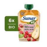 6 x SUNAR BIO kapsička Hruška, malina 100 g