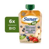 6x SUNAR BIO kapsička Jablko, jahoda, borůvka 100 g