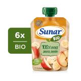 6 x SUNAR BIO kapsička Jablko, banán 100 g