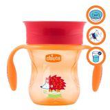CHICCO Hrneček Perfect 360 s držadly 200 ml, oranžový 12m +