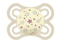MAM Dudlík Perfect night, 0-6 m, silikon fialové hvězdy